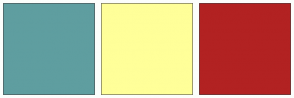 Color Scheme with #5F9EA0 #FFFF99 #B22222