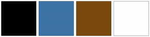 Color Scheme with #000000 #3D72A4 #79480D #FFFFFF