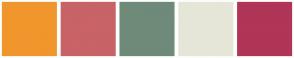 Color Scheme with #F0962C #C86368 #6F8A79 #E5E6D8 #B03556