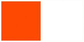 Color Scheme with #FE4902 #FFFFFF