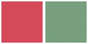 Color Scheme with #D64958 #779F7E