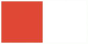 Color Scheme with #E04836 #FFFFFF