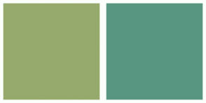 Color Scheme with #97AA6D #599681