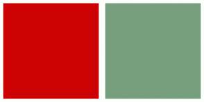 Color Scheme with #CD0303 #779F7E