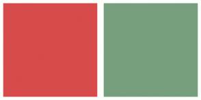 Color Scheme with #D74B4B #779F7E