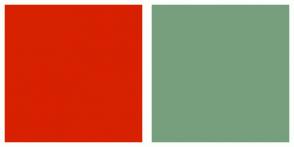 Color Scheme with #D72101 #779F7E
