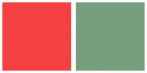 Color Scheme with #F54040 #779F7E