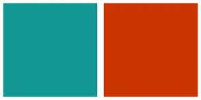Color Scheme with #129793 #CB3501