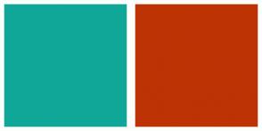 Color Scheme with #10A799 #BD3304