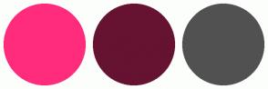 Color Scheme with #FF2C7C #661231 #515151