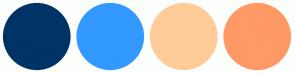 Color Scheme with #003366 #3399FF #FFCC99 #FF9966