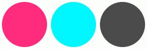 Color Scheme with #FF2C7C #00F7FF #4B4B4B