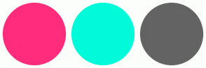 Color Scheme with #FF2C7C #00FBDA #636363