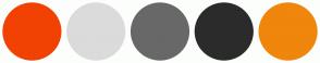 Color Scheme with #F24203 #DBDBDB #686868 #2B2B2B #F0860C