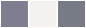 Color Scheme with #7F7E90 #F4F1EF #777B85