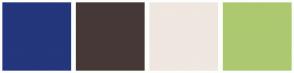 Color Scheme with #24367C #473838 #EFE7E0 #ADC970