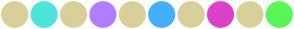 Color Scheme with #D9CF9A #4FE3DC #D9CF9A #B27DFF #D9CF9A #46ADFF #D9CF9A #DB40C9 #D9CF9A #58F756