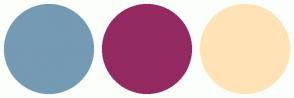 Color Scheme with #759AB3 #942A62 #FFE3B6