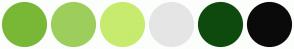 Color Scheme with #79B837 #9DCE5C #C7EB6E #E5E5E5 #0E4A0E #0A0A0A