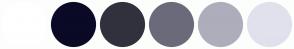 Color Scheme with #FFFFFF #0A0A27 #31313E #6A6A7A #ADADBC #E1E1ED