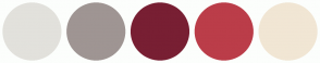 Color Scheme with #E2E1DC #9F9593 #781F33 #BB3D49 #F1E6D4