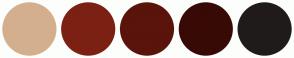 Color Scheme with #D3AF8E #7B2013 #5A140B #380A06 #201B1B