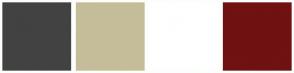Color Scheme with #424242 #C5BD99 #FFFFFF #701112