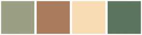 Color Scheme with #9C9F84 #A97D5D #F7DCB4 #5C755E