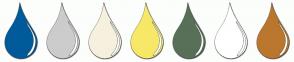 Color Scheme with #005B9A #CCCCCC #F5F1DE #F7E967 #587058 #FFFFFF #BB772E