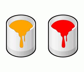 Color Scheme with #FFA500 #FF0000