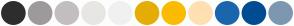 Color Scheme with #2D2D2D #9E9A9C #C3BEC0 #E8E6E3 #F1F0F1 #E5AD05 #FABB00 #FFE0B2 #1A66AD #004C93 #7E97B1