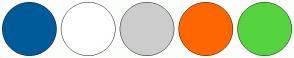 Color Scheme with #005B9A #FFFFFF #CCCCCC #FF6600 #55D43F