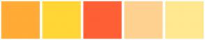 Color Scheme with #FFAB35 #FFD635 #FF5F35 #FFD190 #FFE890