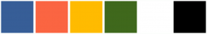 Color Scheme with #375E97 #FB6542 #FFBB00 #3F681C #FFFFFF #000000
