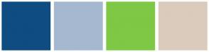 Color Scheme with #0F4C81 #A5B8D0 #7EC845 #DBCBBD