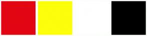 Color Scheme with #E30613 #FDFE0A #FFFFFF #000000