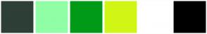 Color Scheme with #2D3F37 #90FEA5 #009A17 #D1F615 #FFFFFF #000000