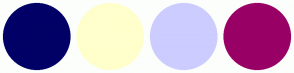 Color Scheme with #000066 #FFFFCC #CCCCFF #990066