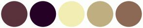 Color Scheme with #59323C #260126 #F2EEB3 #BFAF80 #8C6954