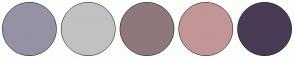 Color Scheme with #9791A6 #C1C1C3 #8F787B #C29597 #4A3B55