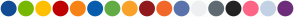 Color Scheme with #124C95 #78B800 #FFC000 #C00000 #F78316 #085DAD #63AC45 #FAA229 #91191C #F2672A #5B73AC #EEF0F1 #5F6A72 #232323 #FF6586 #C3D2E5 #6D2D7A