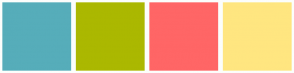 Color Scheme with #56ADBA #ABB800 #FF6666 #FFE680