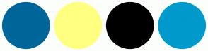 Color Scheme with #006699 #FFFF81 #000000 #0099CC