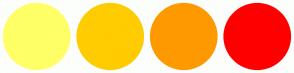 Color Scheme with #FFFF66 #FFCC00 #FF9900 #FF0000