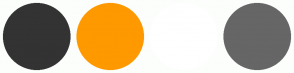 Color Scheme with #333333 #FF9900 #FFFFFF #666666