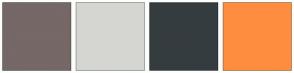 Color Scheme with #756867 #D5D6D2 #353C3F #FF8D3F