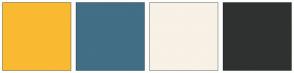 Color Scheme with #F9BA32 #426E86 #F8F1E5 #2F3131