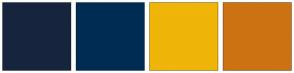Color Scheme with #16253D #002C54 #EFB509 #CD7213