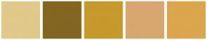 Color Scheme with #E1C88B #826621 #C69A2C #D7A76F #DBA64D