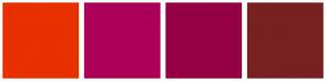 Color Scheme with #E83000 #AD0058 #950045 #782121